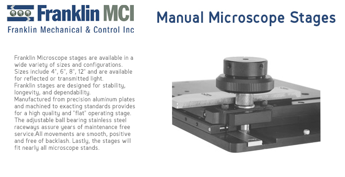 Franklin Manual Microscope Stages